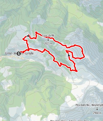 Karte / Aufstieg zum Pares Berg