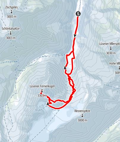 Karte / Lüsener Fernerkogel (3298 m)