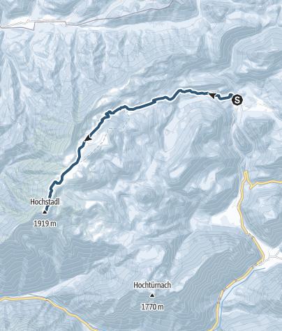 Karte / Auf den Hochstadl über die Kräuterin