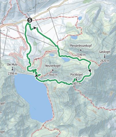 Karte / Kühtai Panorama-Klettersteig