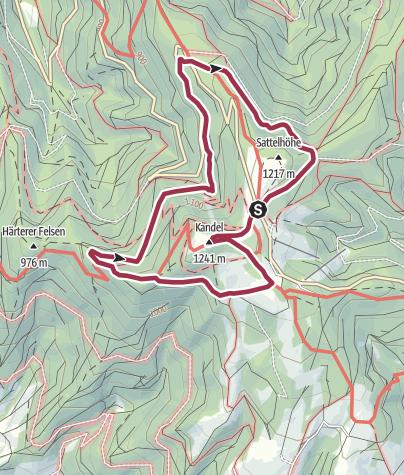 Karte / Rund um den Kandel bei Waldkirch