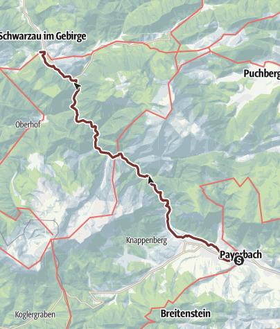 Map / Marienweg Etappe Payerbach - Schwarzau i. Gebirge