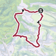 Map / Hiking route: Calce Path to Les Founts