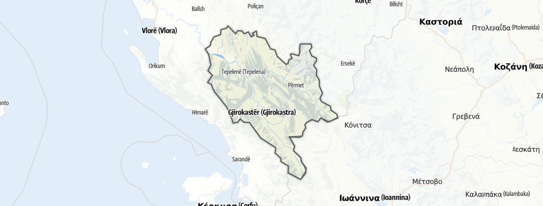 Carte / Gjirokaster