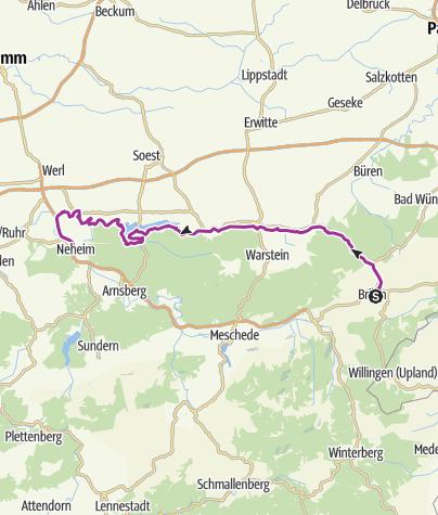 Karte / MöhnetalRadweg - Panoramaroute