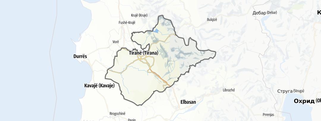 Mappa / Percorsi in Tirane