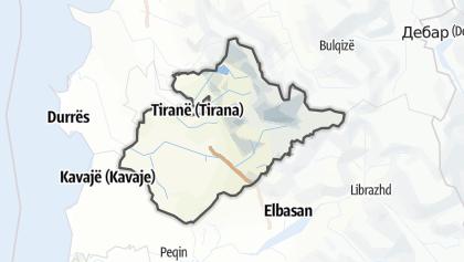 Hartă / Tirane