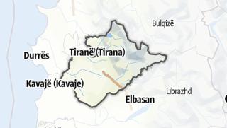 מפה / Tirane