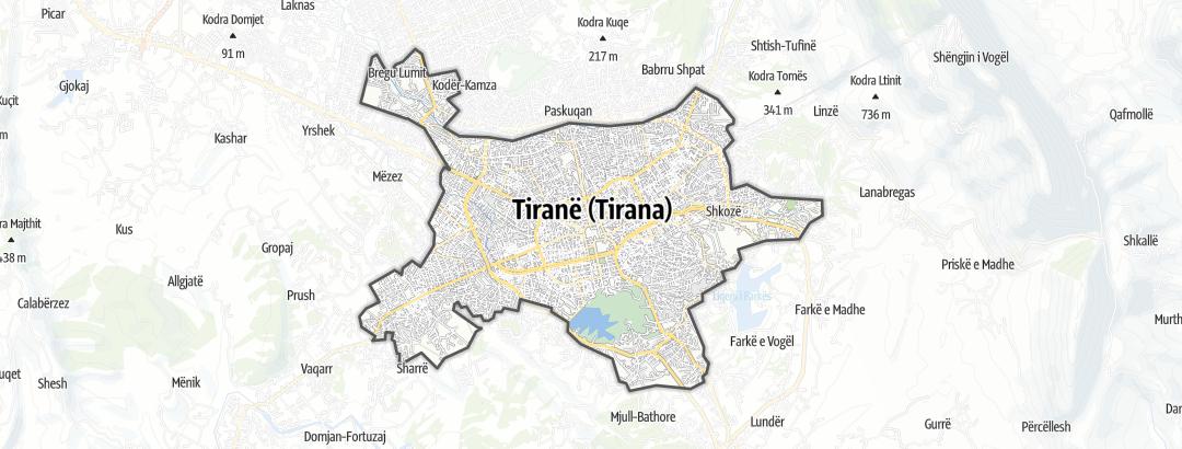 Map / Tirane