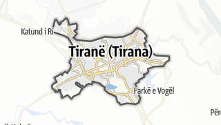 Карта / Tirane