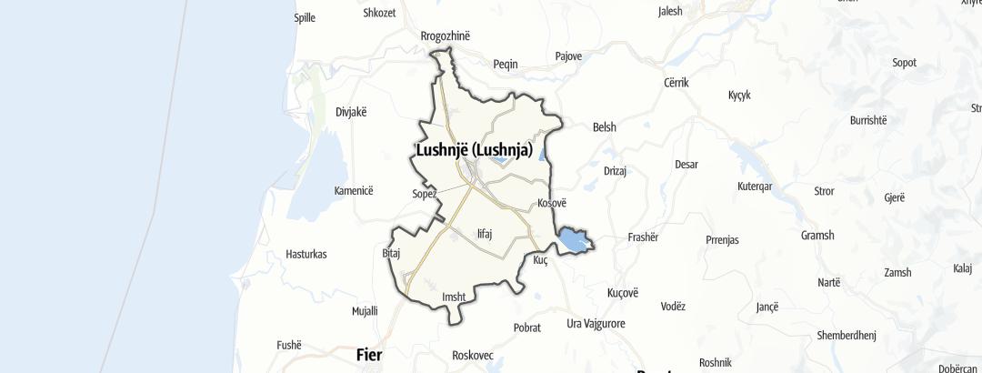 Карта / Маршруты в Lushnje