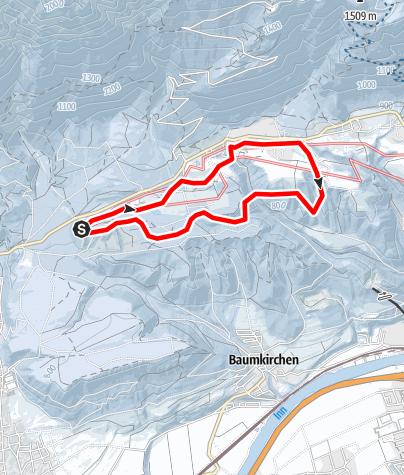 Karte / Skatingspur Gnadenwald