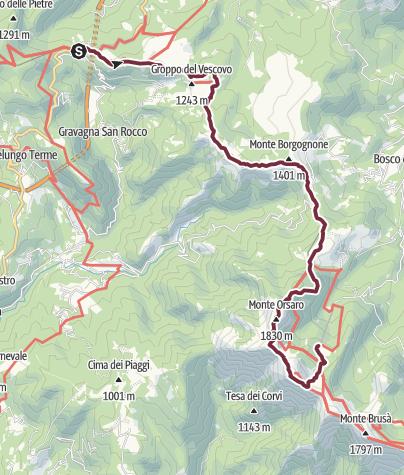 地图 / 151 VS Passo della Cisa - Lago Santo Parmense