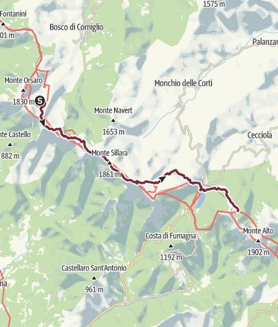 地图 / 152 VS Lago Santo Parmense - Rifugio Città di Sarzana