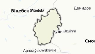 מפה / Liozna Rajon