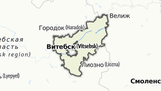 מפה / Viciebsk Rajon