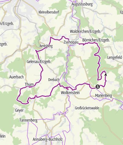 Karte / Tour 13 - Große Triangulationstour