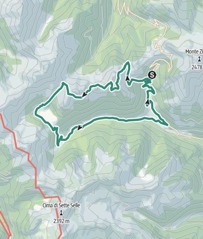 Map / Cima Fornace - Lagorai