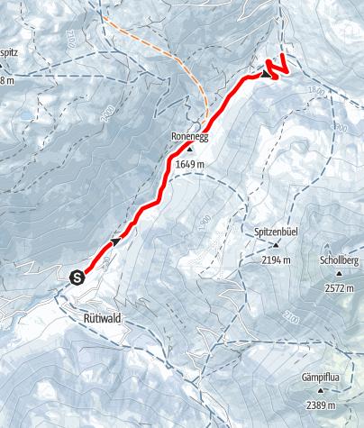 Map / Winterwanderung St. Antönien Partnun - St. Antönien Rüti