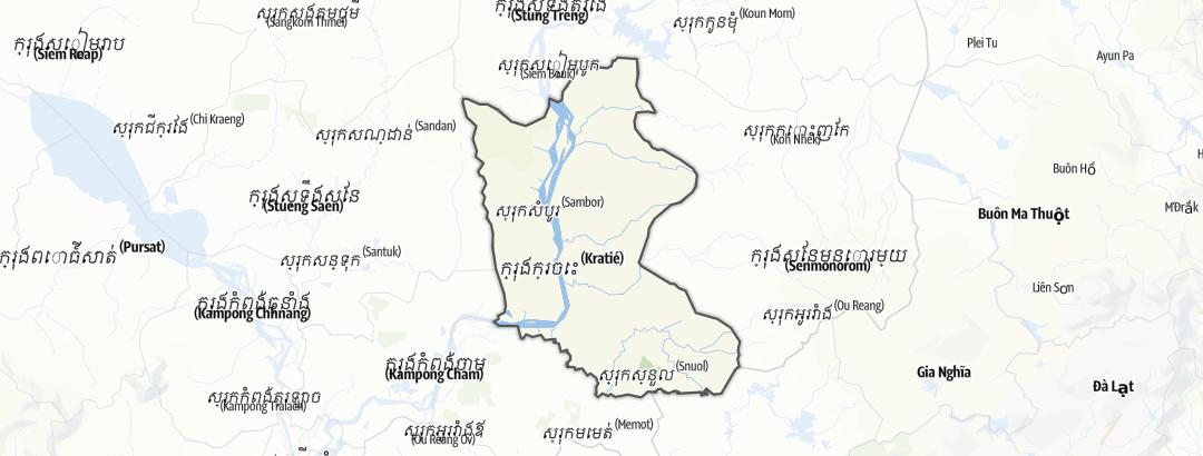 Mapa / Kratie