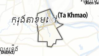 Hartă / Ta Khmau