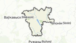 מפה / Zelva Rajon