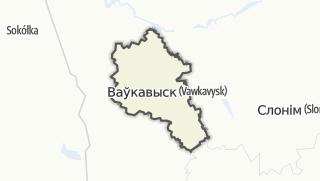 מפה / Vaukavysk Rajon