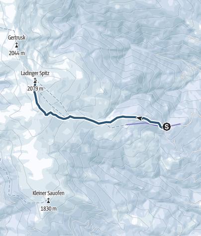 """Karte / Skitour """"Ladinger Spitz"""" - Saualpe"""