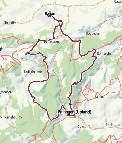 Karte / Briloner Kammweg