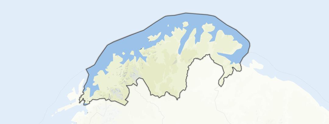 Mapa / Pochody v oblasti Troms og Finnmark