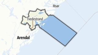 Mapa / Tvedestrand