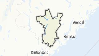Mapa / Birkenes