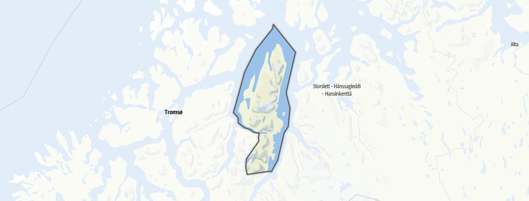 Map / Hikes in Lyngen