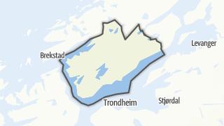 Mapa / Indre Fosen