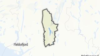 Mapa / Hægebostad