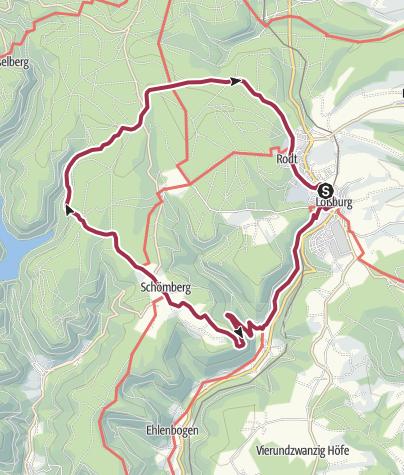 Karte / Sinnenwege im Loßburger Ferienland