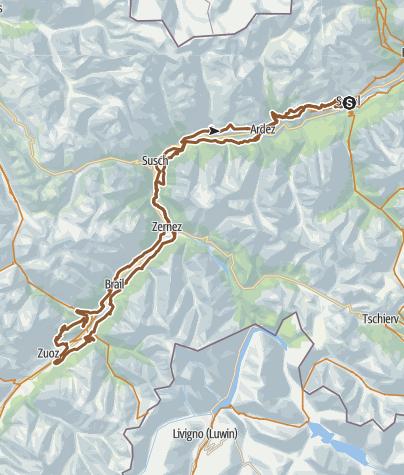 Mapa / Nationalpark Bike-Marathon Alternativstrecke