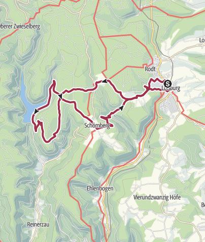"""Karte / Von der Quelle der """"Großen Kinzig"""" zum Trinkwasserspeicher """"Kleine Kinzig"""""""