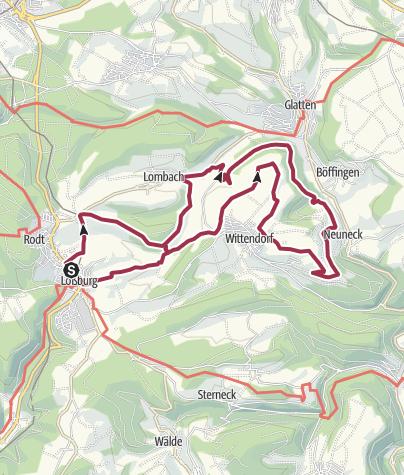 Karte / Im östlichen Teil des Loßburger Ferienlandes