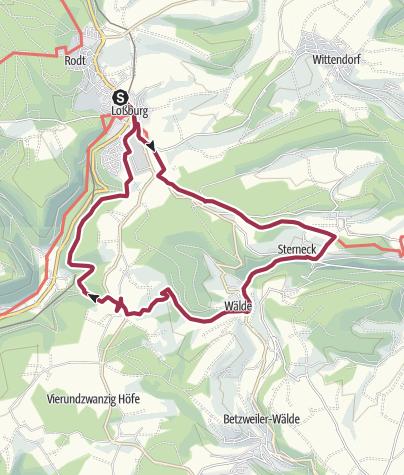 Karte / Von Loßburg zur Ruine Sterneck