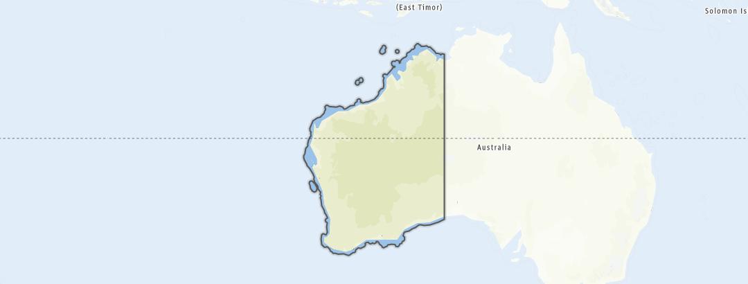 Map / Trail runs in Western Australia