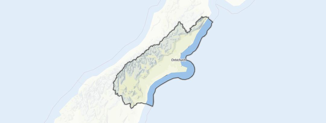 Mapa / Canterbury Region