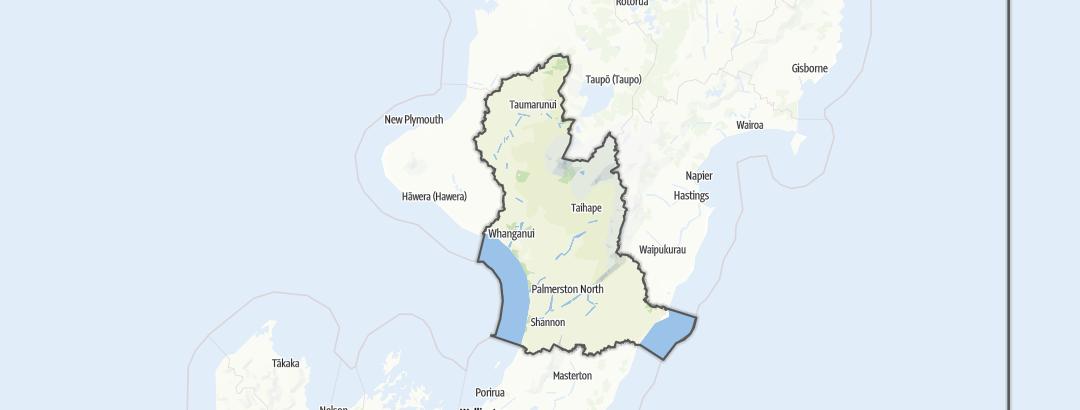 Mapa / Manawatu-Wanganui Region