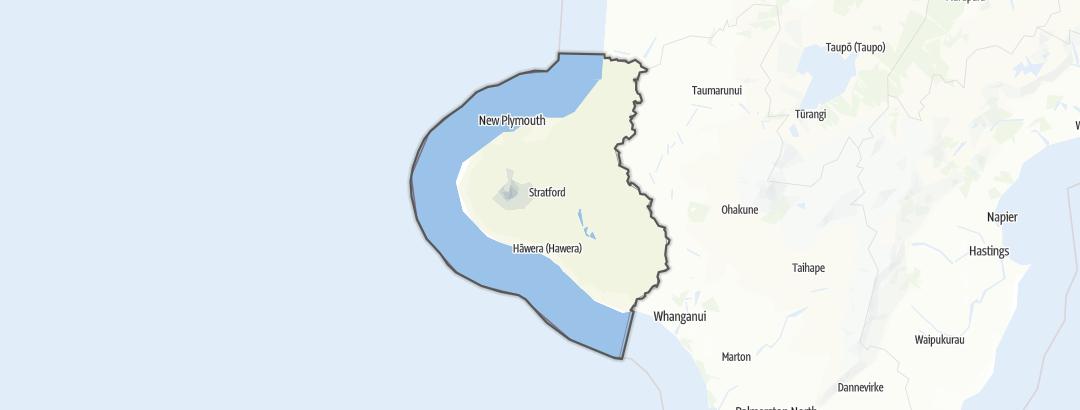Mapa / Taranaki Region