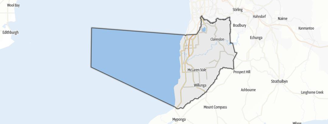 מפה / טיולים רגליים ברחבי Onkaparinga