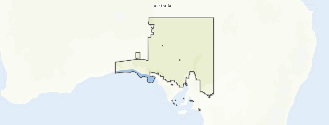 Karte / Wandern in Unincorporated SA