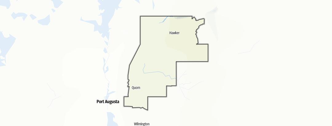 Karte / Wandern in Flinders Ranges