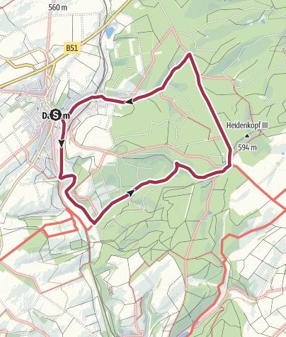 Karte / Moorpfad - Dahlem