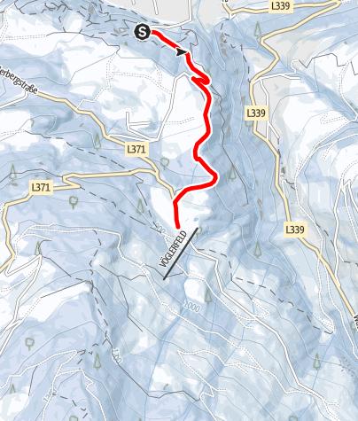 Karte / Beleuchtete Naturrodelbahn am Vögelsberg