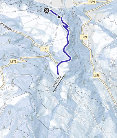 Map / Illuminated natural tobbogan run